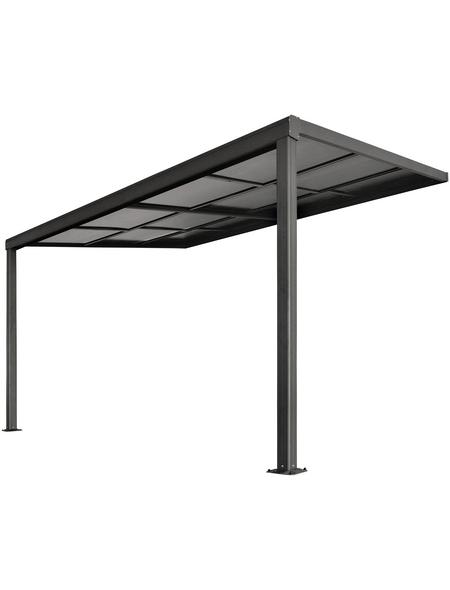 FLORAWORLD Terrassenüberdachung, Breite: 390 cm, Dach: Kunststoff, anthrazit