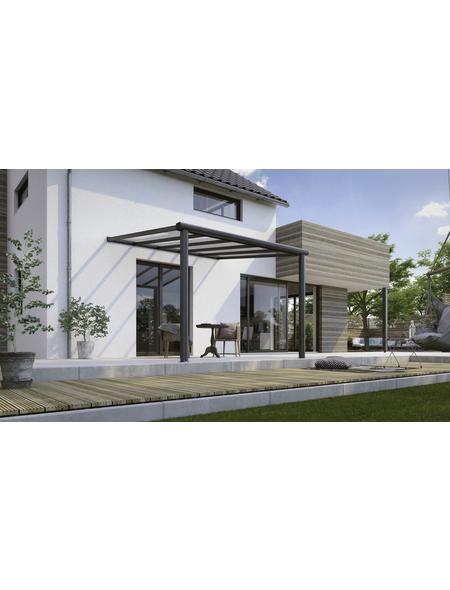 GARDENDREAMS Terrassenüberdachung »Compact Line«, Breite: 304 cm, Dach: Polycarbonat (PC), anthrazitgrau