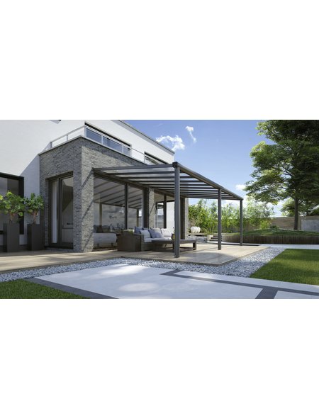 GARDENDREAMS Terrassenüberdachung »Compact Line«, Breite: 544 cm, Dach: Polycarbonat (PC), anthrazitgrau