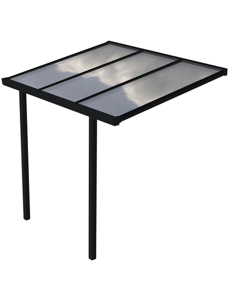 GARDENDREAMS Terrassenüberdachung »Easy Edition«, Breite: 300 cm, Dach: Polycarbonat (PC), anthrazit