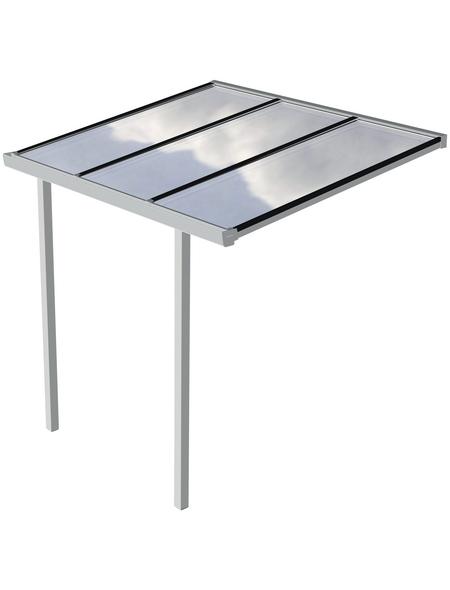 GARDENDREAMS Terrassenüberdachung »Easy Edition«, Breite: 300 cm, Dach: Polycarbonat (PC), weiß
