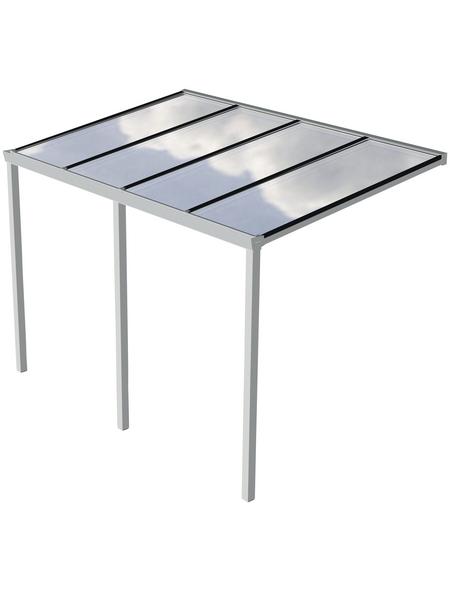 GARDENDREAMS Terrassenüberdachung »Easy Edition«, Breite: 400 cm, Dach: Polycarbonat (PC), weiß