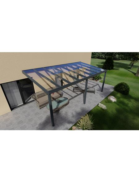 GARDENDREAMS Terrassenüberdachung »Easy Edition«, Breite: 600 cm, Dach: Glas, anthrazitgrau