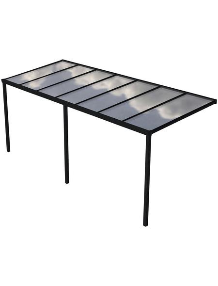 GARDENDREAMS Terrassenüberdachung »Easy Edition«, Breite: 700 cm, Dach: Polycarbonat (PC), anthrazit