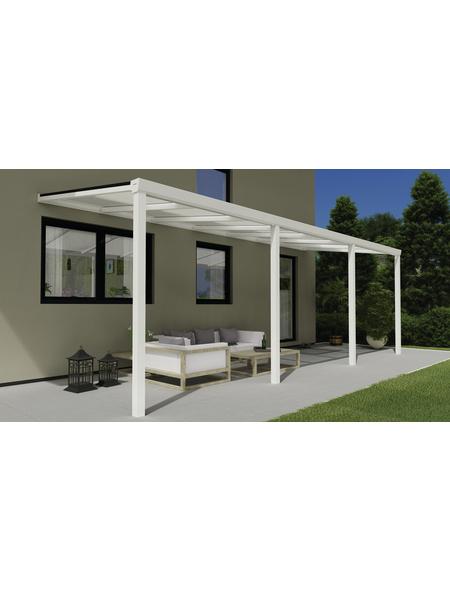 GARDENDREAMS Terrassenüberdachung »Easy Edition«, Breite: 700 cm, Dach: Polycarbonat (PC), weiß