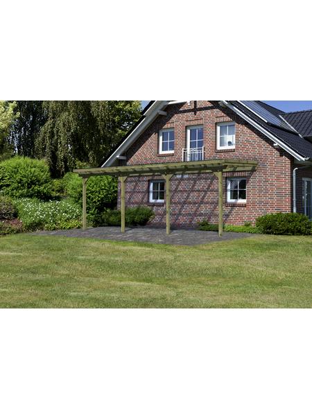 KARIBU Terrassenüberdachung »Eco Modell KDI 1«, Breite: 576 cm, Dach: Polyvinylchlorid (PVC), braun