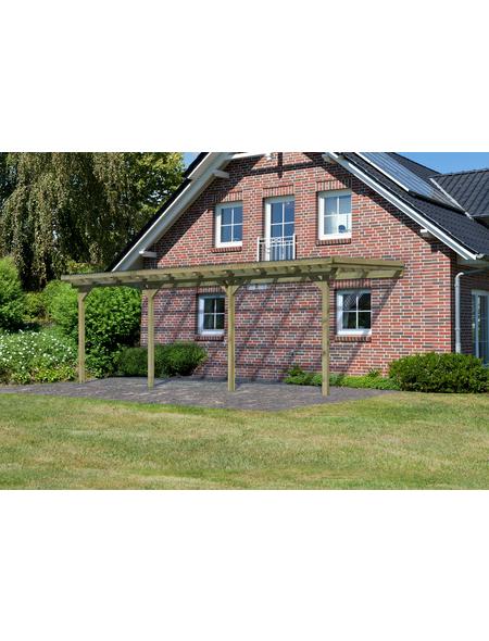 KARIBU Terrassenüberdachung »Eco Modell KDI 2«, Breite: 576 cm, Dach: Polyvinylchlorid (PVC), braun