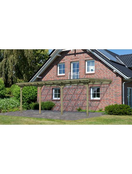 KARIBU Terrassenüberdachung »Eco Modell KDI 3«, Breite: 576 cm, Dach: Polyvinylchlorid (PVC), braun