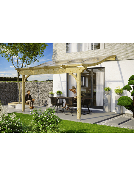 SKANHOLZ Terrassenüberdachung »Verona«, Breite: 434 cm, Dach: Polycarbonat (PC), natur