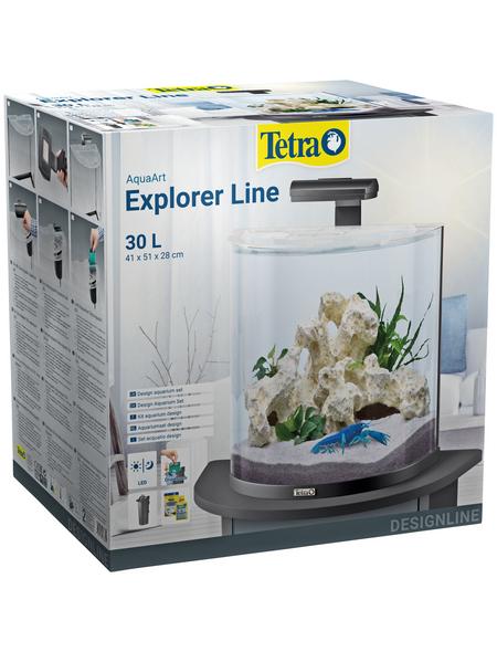 TETRA Tetra AquaArt Explorer Line LED Aquarium Schwarz 30L