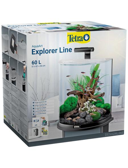 TETRA Tetra AquaArt Explorer Line LED Aquarium Schwarz 60L