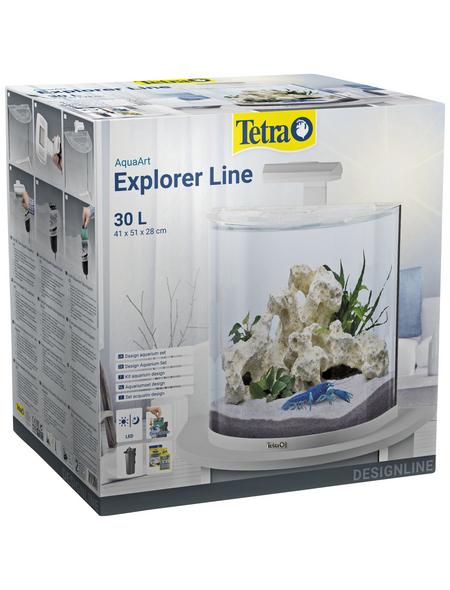 TETRA Tetra AquaArt Explorer Line LED Aquarium Weiß 30L