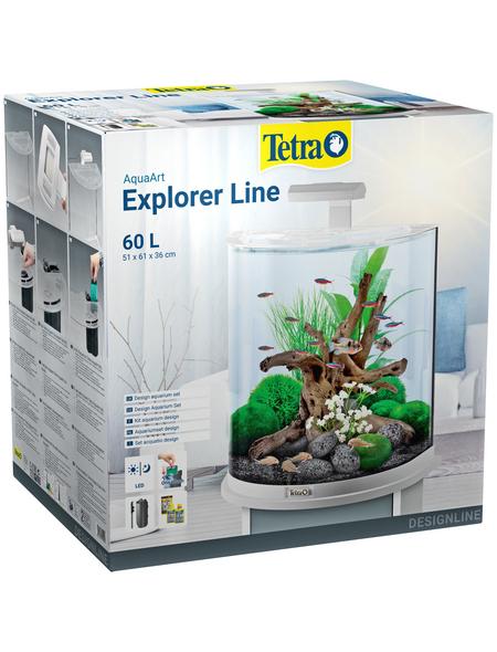 TETRA Tetra AquaArt Explorer Line LED Aquarium Weiß 60L