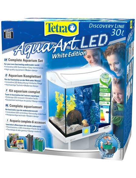 TETRA Tetra AquaArt LED Aquarium Komplett-Set Weiß 30L