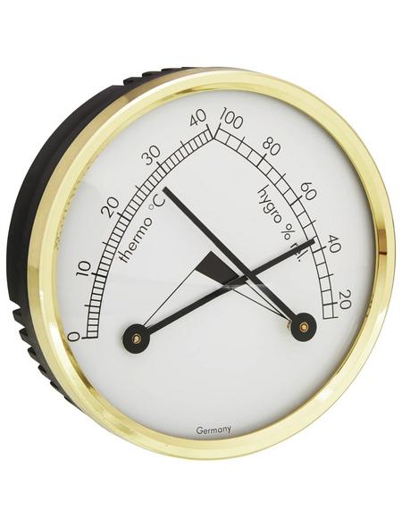 tfa® Thermo-Hygrometer, Kunststoff/Messing, schwarz/goldfarben