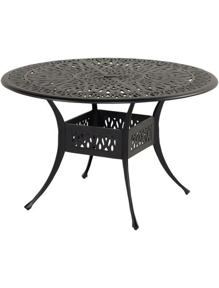 HARTMAN Tisch »Amalfi«, BxHxT: 112 x 74 x 122 cm, Tischplatte: Aluminium