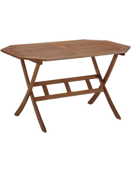 Tisch »Borkum«, mit Eukalyptusholz-Tischplatte, BxTxH: 85 x 135 x 74 cm