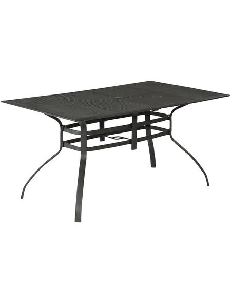 Tisch »Delphi«, BxHxL: 85 x 75 x 150 cm, Tischplatte: Aluminium