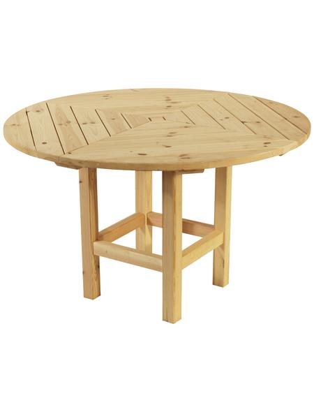 WOLFF Tisch, Holz, beige