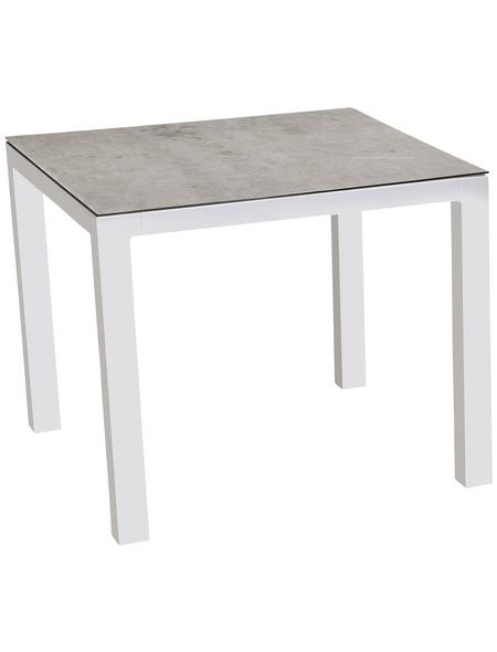 Best Tisch Houston Bxhxt 90 X 74 5 X 90 Cm Tischplatte Glas Keramik Hagebau De