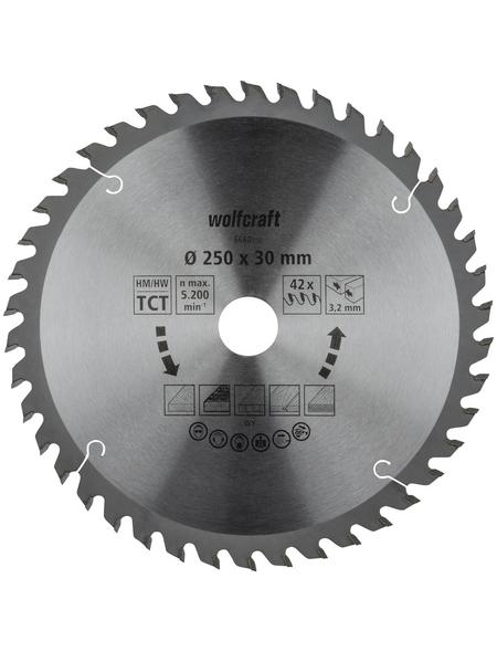WOLFCRAFT Tisch-Kreissägeblätter, Ø 250 mm, 42 Zähne
