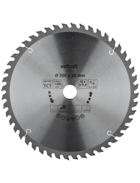 WOLFCRAFT Tisch-Kreissägeblätter, Ø 300 mm, 48 Zähne