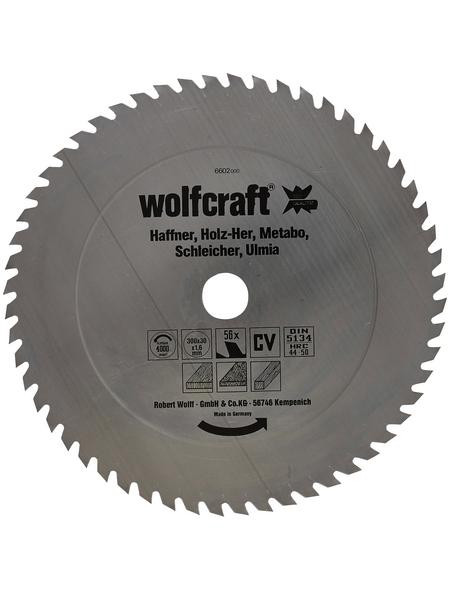 WOLFCRAFT Tisch-Kreissägeblätter, Ø 300 mm, 56 Zähne