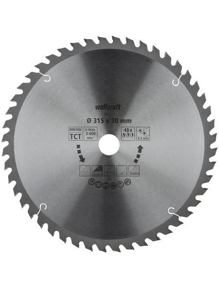 WOLFCRAFT Tisch-Kreissägeblätter, Ø 315 mm, 48 Zähne