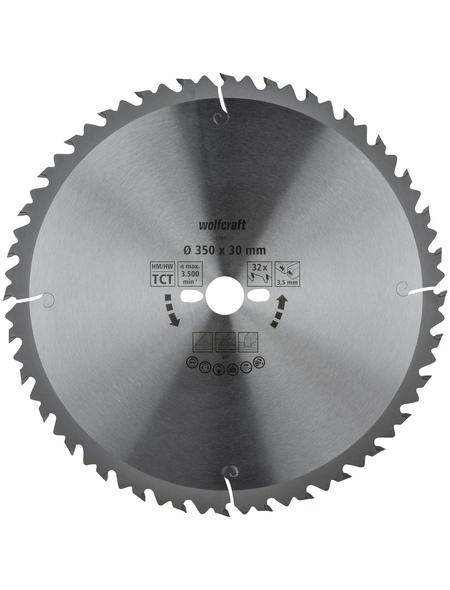 WOLFCRAFT Tisch-Kreissägeblätter, Ø 350 mm, 32 Zähne
