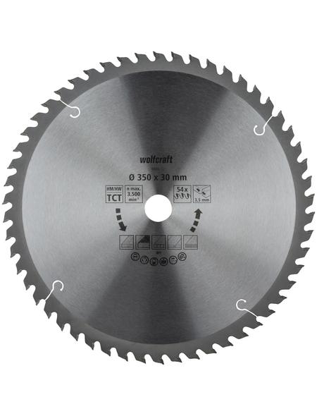 WOLFCRAFT Tisch-Kreissägeblätter, Ø 350 mm, 54 Zähne