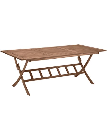 Tisch, mit Eukalyptusholz-Tischplatte, BxTxH: 100 x 200 x 74 cm