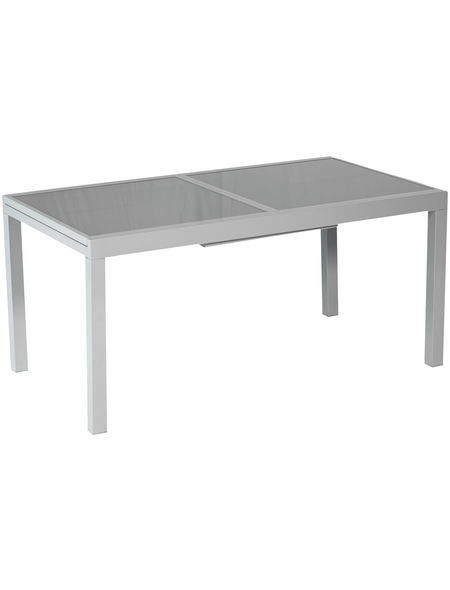 MERXX Tisch, mit Sicherheitsglas-Tischplatte, BxHxT: 180 x 75 x 100 cm