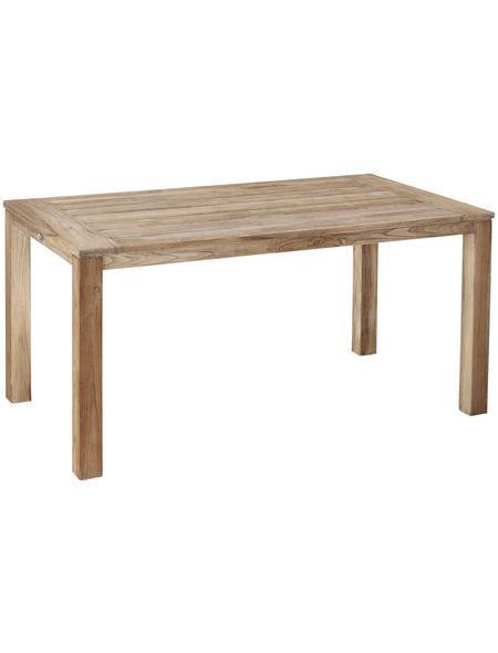 BEST Tisch »Moretti«, BxHxT: 160 x 75 x 90 cm, Tischplatte: Teakholz