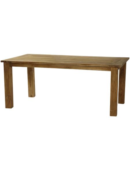 CASAYA Tisch »Old Teak«, BxHxT: 180 x 72 x 100 cm, Tischplatte: Teakholz