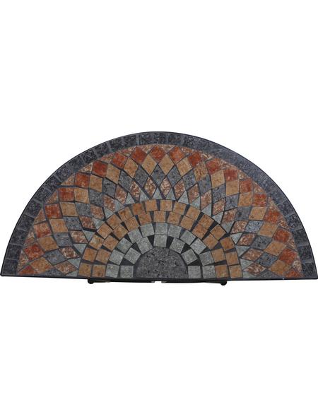 SIENA GARDEN Tisch »Prato«, mit Stahl-Tischplatte, BxTxH: 70 x 35,5 x 71,5 cm