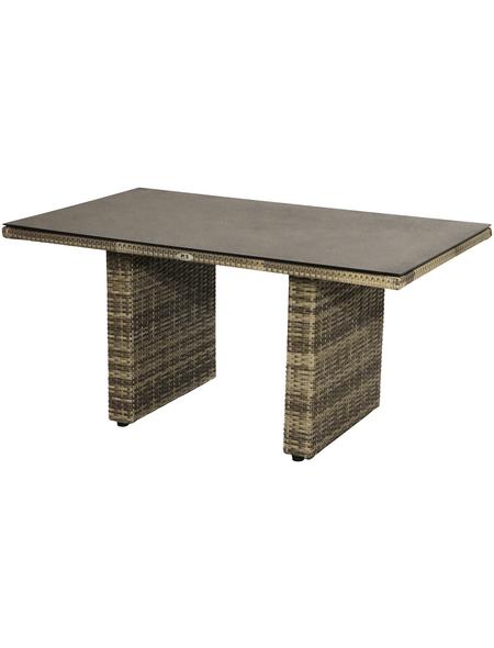 ploß® Tisch »Rabida«, mit Glas-Tischplatte, BxTxH: 140 x 85 x 68 cm