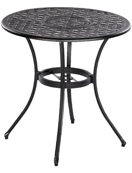 Tisch »Rhodos«, mit Aluminium-Tischplatte, Ø x H: 70 x 70 cm