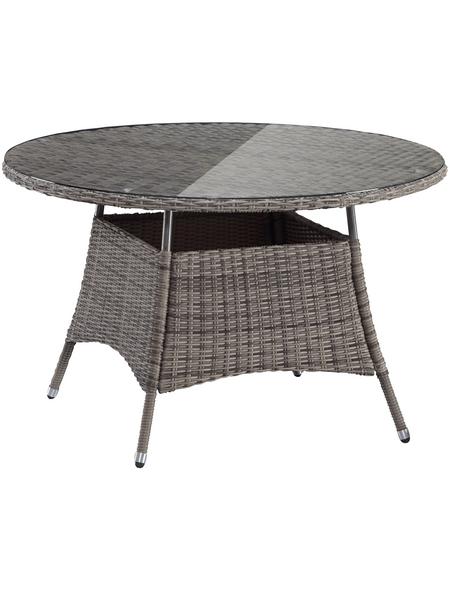 Tisch »Riviera«, ØxH: 120 x 74 cm, Tischplatte: Kunststoff