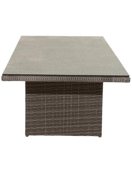 ploß® Tisch »Rocking «, mit Glas-Tischplatte, BxTxH: 220 x 100 x 75 cm