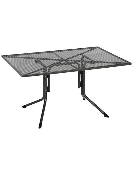 CASAYA Tisch »Silon«, mit Stahl-Tischplatte, BxLxH: 90x140x71 cm