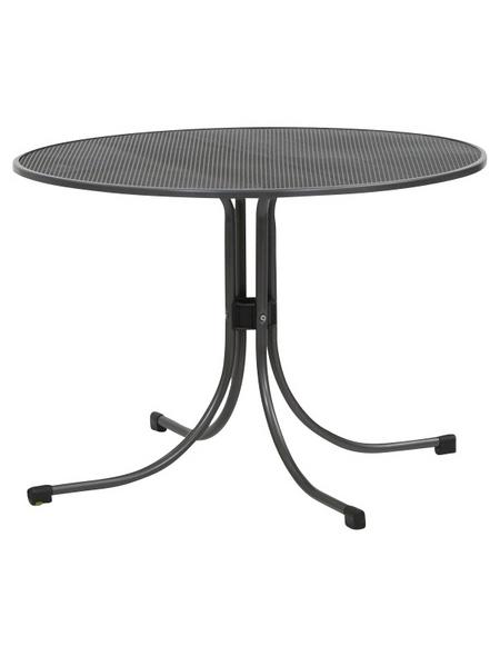 MWH Tisch »Universal«, mit Metall-Tischplatte, ØxH: 90 x 74 cm
