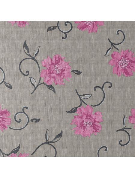 Tischdecke, BxL: 110 x 140 cm, Blumen, braun
