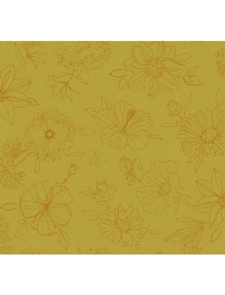 Tischdecke, BxL: 110 x 140 cm, Blumen, gelb