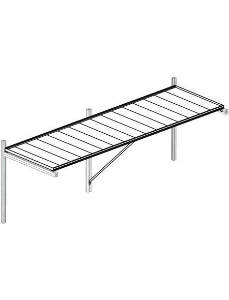 KGT Tischgestell »Linea«, B x L x H: 110  x 63,5  x 4  cm