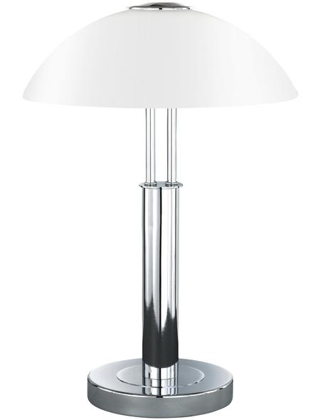 COMPASELECT Tischleuchte, 40  W, chromfarben, Höhe: 42  cm
