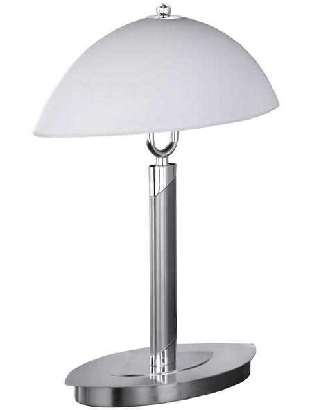 Tischleuchte, 40  W, nickelfarben, Höhe: 39  cm