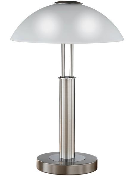 Tischleuchte, 40  W, nickelfarben, Höhe: 42  cm