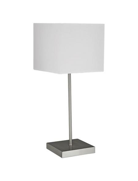 BRILLIANT Tischleuchte »Aglae« weiß/nickelfarben mit 40 W, H: 43 cm, E14 ohne Leuchtmittel