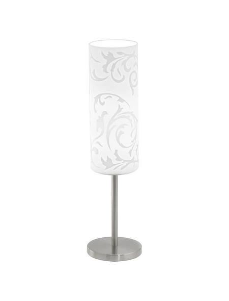 EGLO Tischleuchte »AMADORA« weiß/nickelfarben mit 60 W, Schirm-Ø x H: 10,5 x 46 cm, E27 ohne Leuchtmittel