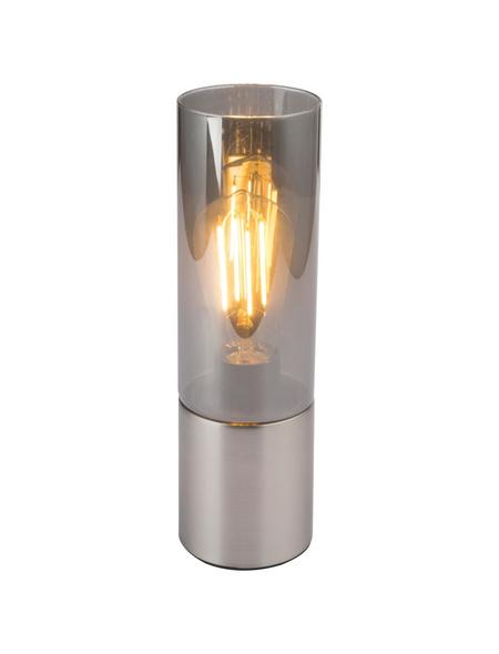 GLOBO LIGHTING Tischleuchte »ANNIKA« nickelfarben mit 25 W, H: 30 cm, E27 ohne Leuchtmittel